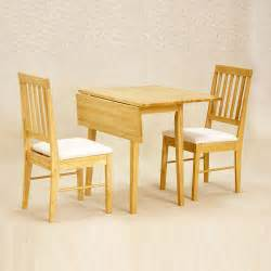 drop leaf dining table with 2 chairs set 46cm 92cm