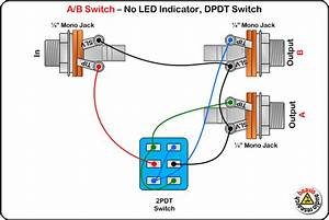 A  B Switch Wiring Diagram  No Led  Dpdt Switch