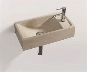 Lavabo En Pierre Naturelle : lavabo rectangulaire suspendu en pierre naturelle hwb 1 by ~ Premium-room.com Idées de Décoration