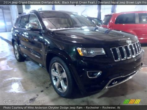 light brown jeep black forest green pearl 2014 jeep grand cherokee