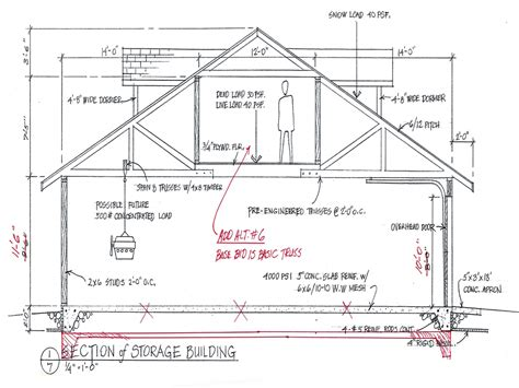 construction house plans one car garage plans free free garage building plans