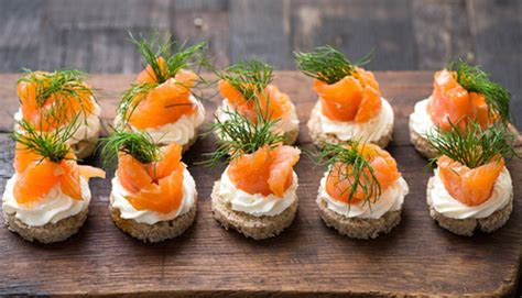 german canapes salmon canapes