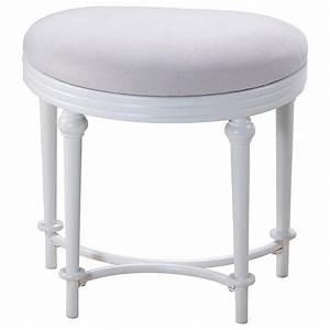 Hillsdale, Vanity, Stools, Oval, Vanity, Stool, With, Upholstered, Off