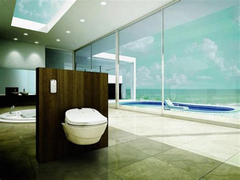 high tech bathroom features