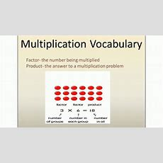 Multiplication Vocabulary Lesson Youtube
