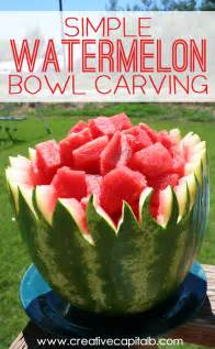 Simple Watermelon Bowl Carving