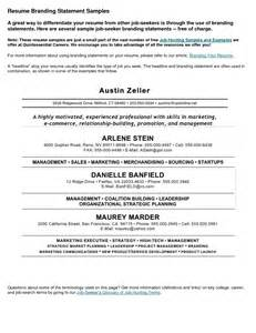 personal summary in a resume resume personal statement sle best template collection