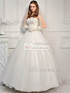 ball gown tulle tube top strapless lace up floor length With tube top wedding dress