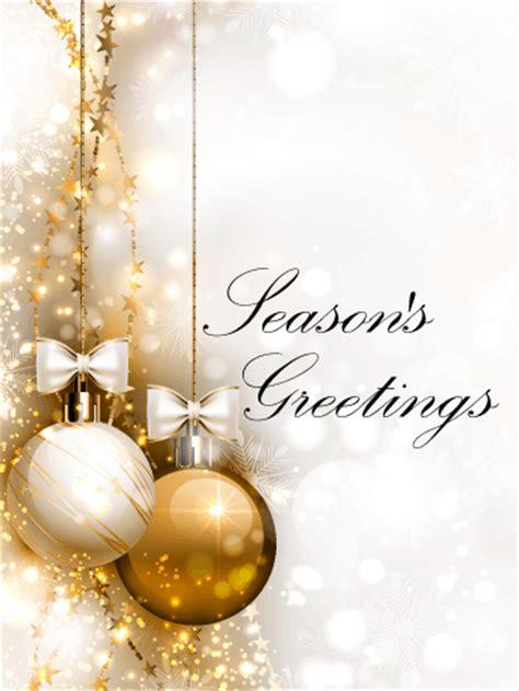 golden ornaments seasons  card birthday