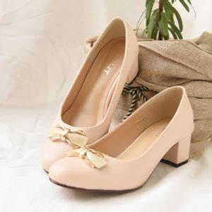 sepatu ribbon chunky heels sepatu flat wanita sepatu haihil wedding sepatu cantik
