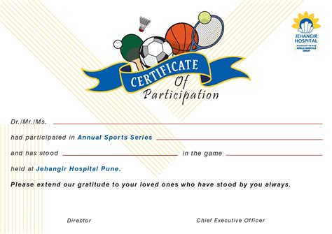 Sports Certificate Templates Free Printable by Sports Certificates Sports Certificates Sports