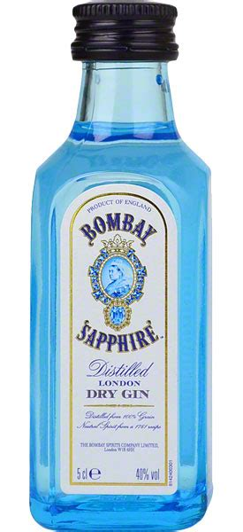 bombay sapphire london dry gin miniature cl drinks