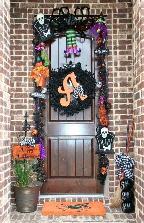 halloween decorated front door pictures