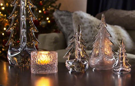 meet vermont evergreens by simon pearce glass trees from vermont woods studios
