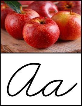 cursive alphabet poster real photo images zaner bloser