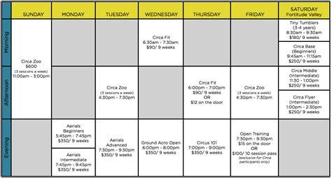 Timetable | CIRCA