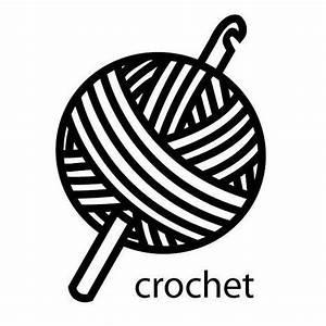 Crochet Vinyl Decal sticker by azurerocket on Etsy