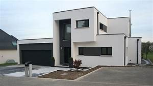 facade moderne garage toit plat With photo maison toit plat 14 agrandir teraa