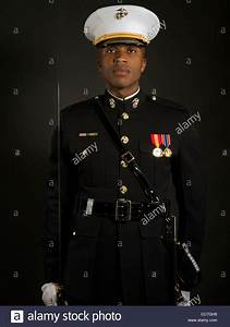 "United States Marine Corps Officer in Blue Dress ""A ..."