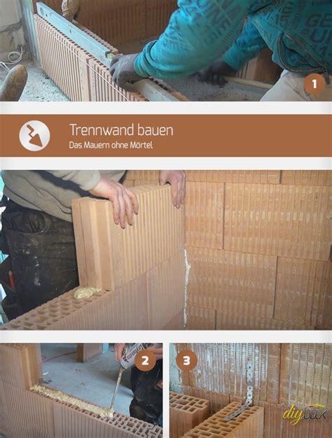 Küche Mauern Anleitung by Trennwand Bauen Das Mauern Ohne M 246 Rtel Anleitung