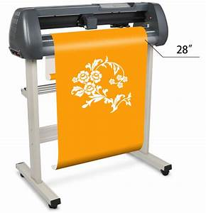 28quot vinyl sign sticker cutting plotter machine with With what machine cuts vinyl letters