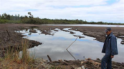 Reducción en un 30% de la superficie de la laguna Huayamó