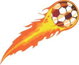 Flaming Soccer Ball Clip Art
