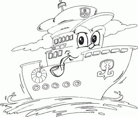 Kleurplaat Brandweerman Sam Boot by Boten Kleurplaten Animaatjes Nl