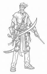 Elf Bard Character Dwarf Drawing Illustrations Nelson Jim Bards November sketch template