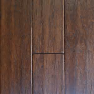 millstead scraped hickory cocoa 3 8 in x 4 1 4 in x random length engineered click