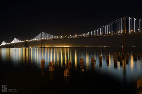 san francisco bay bridge lights shutter warrior