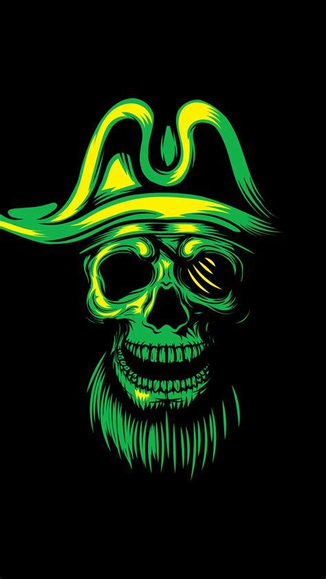 ultra hd pirate skull wallpaper   mobile phone