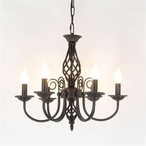 Black Wrought Iron And Chandelier by Vintage Wrought Iron Chandelier E14 Candle Light L