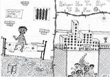 Painting Refugee sketch template