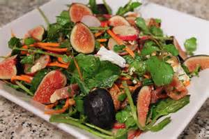 cook in dine out watercress and fig autumn salad