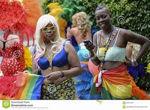 Women In Flamboyant Outfits Gay Pride Parade Editorial ...