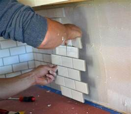 installing subway tile backsplash in kitchen subway tile backsplash install white woodworking