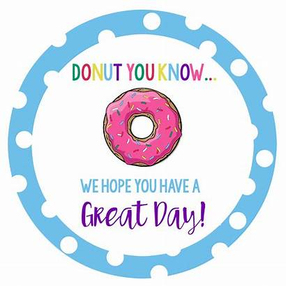 Donut Fun Idea Gift Bouquet Squared Tags