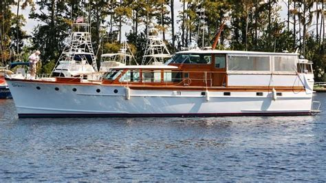 Boat Deck Explanation by 1958 Trumpy Flush Deck Cruiser Power New And Used Boats