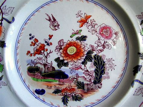 ashworth ironstone chinoiserie plate real stone china