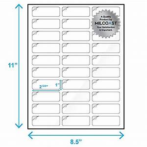 milcoast glossy address labels 30 per sheet 1quot x 2 5 8 With letter size label sheets