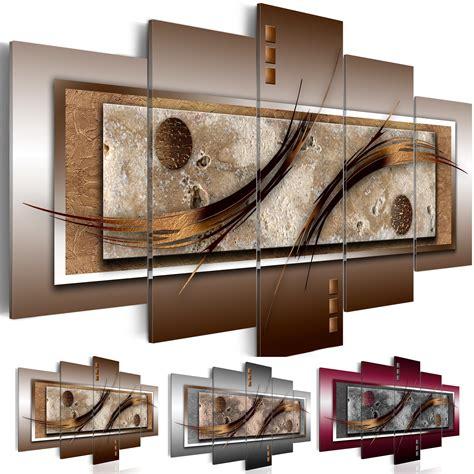 Wandbilder Fürs Wohnzimmer by Wandbilder Abstrakt Leinwand Bilder Braun Grau