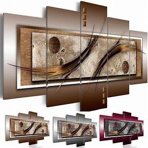 Wandbilder Für Wohnzimmer : wandbilder xxl abstrakt leinwand bilder braun grau wohnzimmer bordo 020101 22 ebay ~ Sanjose-hotels-ca.com Haus und Dekorationen