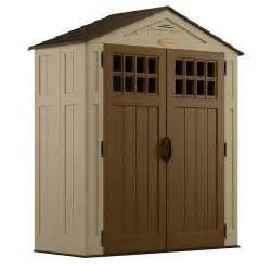 suncast everett 2 ft 9 in x 6 ft 2 75 in resin storage shed browns tans shop your way