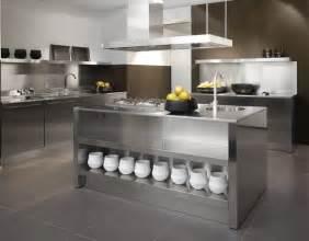 Stainless Kitchen Islands Stainless Steel Kitchen Designs