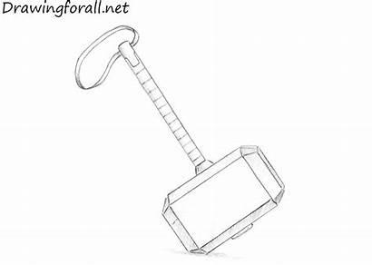 Hammer Drawing Draw Mjolnir Sketch Pencil Drawingforall