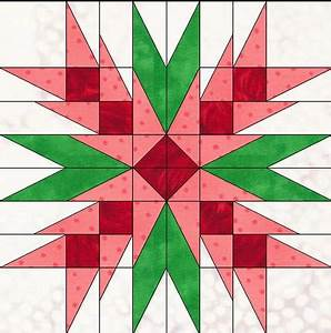 Christmas Flower foundation paper pieced block in pdf