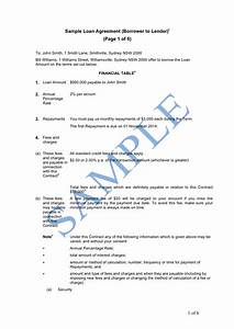 loan agreement borrower to lender sample lawpath brilliant With example of agreement letter for borrowing money