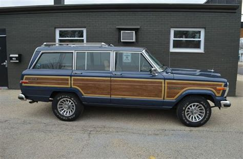 jeep wagoneer blue find used 1988 jeep grand wagoneer baltic blue truly rust