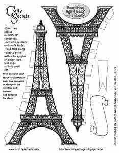 Eiffel Tower Printable Pattern from Crafty Secrets